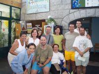Grupo en el Albergue de Pontevedra