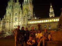 De noche en la plaza del Obradoiro